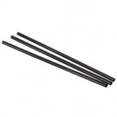 "Unwrapped Straw, 5.75"" Jumbo Black"