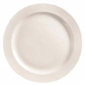 "World Tableware - Basics Plate with Medium Rim, 10"" Round Bright White"
