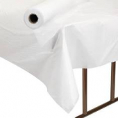 Banquet Roll Table Covering, Plastic Embossed White