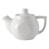 Tuxton - DuraTux Tea Pot with Lid, 18 oz White, 7.125x4.125x4.875