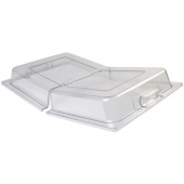 Winco - Food Pan Dome Cover with Hinged Opening, Full Size PC Plastic
