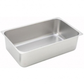 "Winco - Spillage Pan, Full Size 6"" Deep Stainless Steel with Flat Edge"