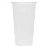Karat - Plastic Cold Cup with U-Rim, 24 oz Clear PP Plastic