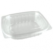 Dart - Container, 12 oz Clear Plastic with Lid, Rectangle, 6x5x2