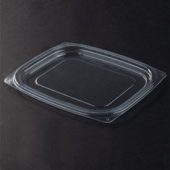 Dart - Lid, ClearPac Plastic Deli Lid, Clear Plastic, Rectangle, Fits 8-16 oz Containers