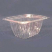 Dart - Container, 16 oz Clear Plastic with Lid, Rectangle, 6x5x3