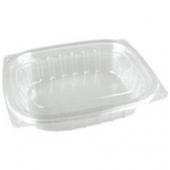 Dart - Container, 24 oz Clear Plastic with Lid, Rectangle, 7.5x6.5x2