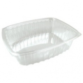 Dart - Container, 24 oz Clear Plastic, Rectangle, 7.5x6.5x2