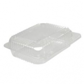 "Dart - Container, 7"" Small Clear Plastic Staylock Hinged Lid, Oblong, 7x6x2"