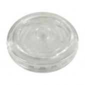 Karat - Flat Lid with Straw Hole, Clear Plastic, Fits 10-24 oz PP Cups