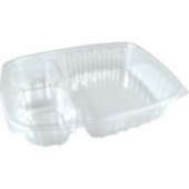 Dart - Container, 32 oz 3 Compartment, Clear Plastic