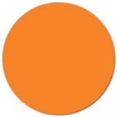 "Label, .75"" Orange Circle"