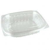 Dart - Container, 32 oz Clear Plastic with Lid, Rectangle, 7.5x6.5x3