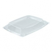 Dart - Lid, Clearpac Snap-On Deli Dome Lid, Clear Plastic, Rectangle, Fits 24 & 32
