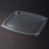 Dart - Lid, ClearPac Plastic Deli Lid, Clear Plastic, Rectangle, Fits 24-32 oz Containers