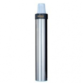 Cup Dispenser, Stainless Steel Surface Mount Vertical, Holds 12-24 oz Plastic or Paper Cups