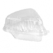 Dart - Container, Pie Wedge, Clear Plastic Hinged, 6.7 oz