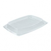 Dart - Lid, Clearpac Snap-On Deli Dome Lid, Clear Plastic, Rectangle, Fits 48 & 64