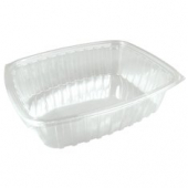 Dart - Container, 64 oz Clear Plastic, Rectangle, 9x7x3