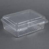 Dart - Container, Clear Plastic Staylock Hinged Lid, 10.5x8.6x3.8