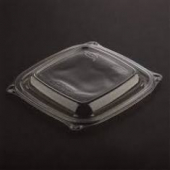 Dart - Lid, Clear PET Plastic (PresentaBowls), Square, Fits 8-16 oz Containers