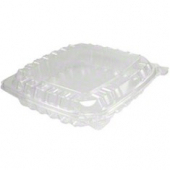"Dart - Container, 8"" Clearseal Hinged 1 Compartment Container with Lid, Clear Plastic, 8x8x2"