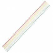 "Karat - Unwrapped Straw, 7.5"" Jumbo Mixed Striped Colors"