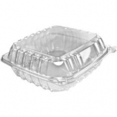 "Dart - Container, 8"" Clearseal Hinged 1 Compartment Container with Lid, Clear Plastic, 8x8x3"