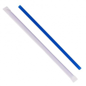 "Karat - Paper Wrapped Straw, 9"" Giant Blue"