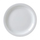 "Vertex China - Catalina Plate with Narrow Rim, 10.5"" Porcelain White"