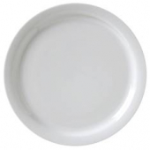 "Vertex China - Catalina Plate with Narrow Rim, 7.5"" Porcelain White"