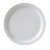 "Vertex China - Catalina Plate with Narrow Rim, 9.5"" Porcelain White"