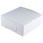 Cake/Bakery Box with Locking Corners, 10x10x4, White