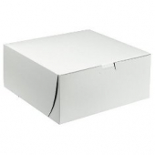 Cake/Bakery Box, Non-Window Tuck Top (1 Piece), White, 10x10x5.5