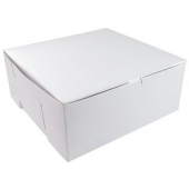 Cake/Bakery Box with Locking Corners, 12x12x5, White