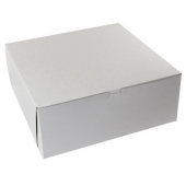 Cake/Bakery Box, 1-Piece Lock Corner, 12x9x3 White/Kraft