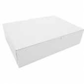 Cake/Bakery Box, Non-Window Tuck Top (1 Piece), White, 12x9x3
