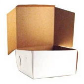 Cake/Bakery Box with Locking Corners, 16x16x6, White