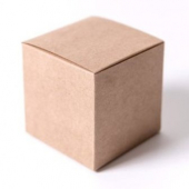 Cake/Bakery Box, Brown, 3x3x3