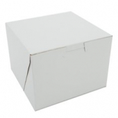 Cake/Bakery Box, Non-Window Tuck Top (1 Piece), White, 5.5x5.5x4