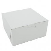 Cake/Bakery Box, Non-Window Tuck Top (1 Piece), White, 6x6x3