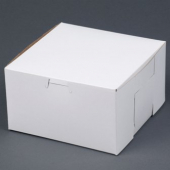 Cake/Bakery Box with Locking Corners, 7x7x4, White