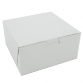 Cake/Bakery Box, Non-Window Tuck Top (1 Piece), White, 7x7x4