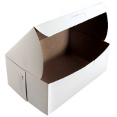 Cake/Bakery Box with Locking Corners, 8x5x3.5, White