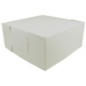 Cake/Bakery Box, Non-Window 1 Piece, White, 8x8x4