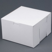 Cake/Bakery Box with Locking Corners, 8x8x5, White