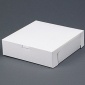 Cake/Bakery Box with Locking Corners, 9x9x3, White