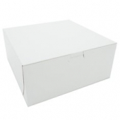 Cake/Bakery Box, Non-Window Tuck Top (1 Piece), White, 9x9x4