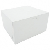 Cake/Bakery Box, Non-Window Tuck Top (1 Piece), White, 9x9x5