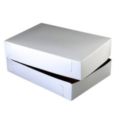 Cake/Bakery Box, 19.5x14x4 (1/2 sheet), White, 2-Piece